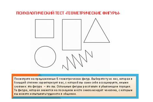 Психология человек рисует геометрические фигуры